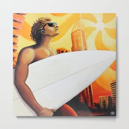 Goin' Surfin' by Michael Baker Metal Print