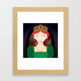 The Crimson Princess Framed Art Print