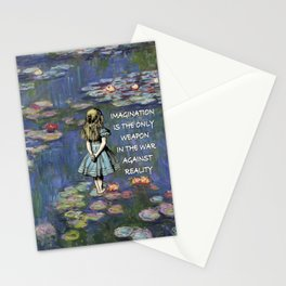 Water Lilies Magic - Alice In Wonderland Quote Stationery Cards