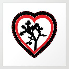 Heart of the Hi-Desert™ Joshua Tree by CREYES Art Print