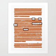 Resolved Art Print