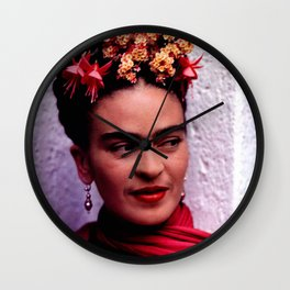 Frida in color Wall Clock