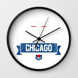 respect chicago Wall Clock