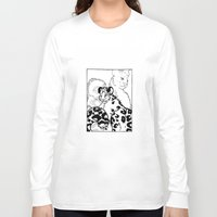 snow leopard Long Sleeve T-shirts featuring Snow Leopard by GlassEyeSpy