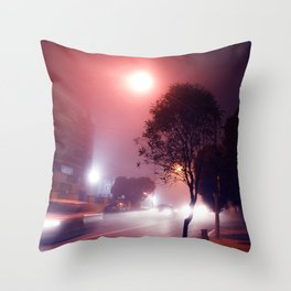 Nighttime Drive-By Throw Pillow