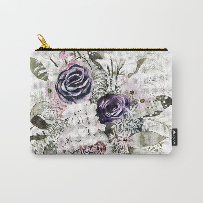 Purple Bouquet Carry-All Pouch