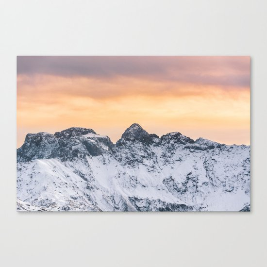 Pastel Mountains #sunset Canvas Print