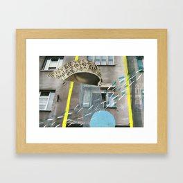 [Stille^Post]Karte Zagreb Framed Art Print