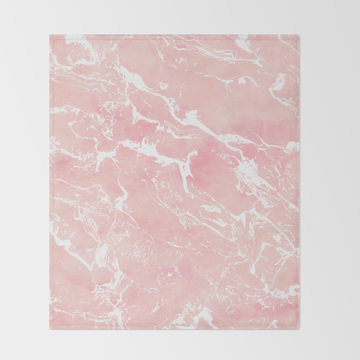 Blush Pink Throw Blanket Interesting Modern Pastel Blush Pink Watercolor Marble Pattern Throw Blanket By