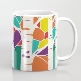 Whimsical birch forest Coffee Mug