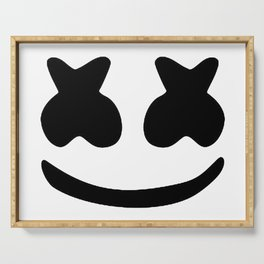 Marshmello face Serving Tray