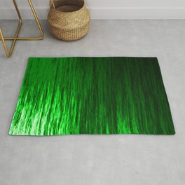 Bright texture of shiny foil of green flowing waves on a dark fabric. Rug