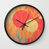 the thing Wall Clocks featuring Spring Thing by VessDSign
