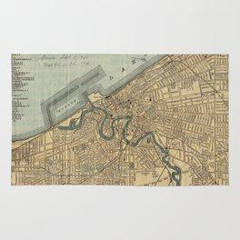 Vintage Map of Cleveland OH (1894) Rug