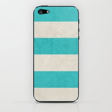 vintage aqua stripes iPhone & iPod Skin