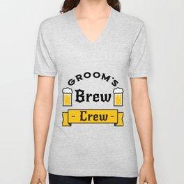 Groom Funny Groom's Brew Crew Unisex V-Neck