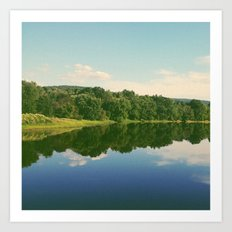 River Reflection Art Print
