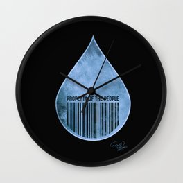 Water : Property of the People 2 Wall Clock