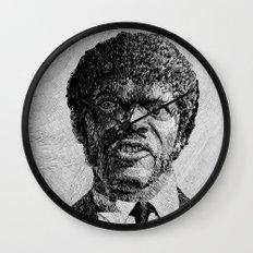 Jules Winnfield Portrait - Fingerprint - Samuel L. Jackson - Pulp Fiction Wall Clock