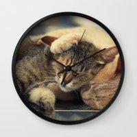 friendship Wall Clocks featuring Friendship by Ellen van Deelen