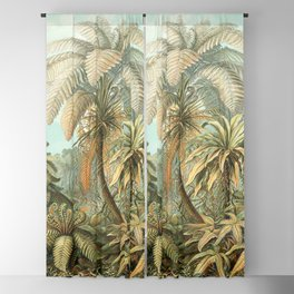 Vintage Tropical Palm Blackout Curtain