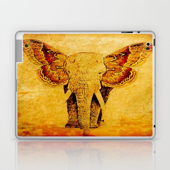 The elephant who wanted to be a butterfly Laptop & iPad Skin