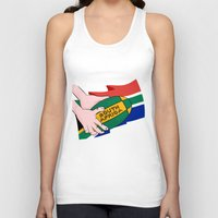 south africa Tank Tops featuring South Africa Rugby by mailboxdisco