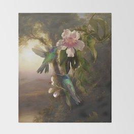 Sparkling Violetear Hummingbirds Throw Blanket