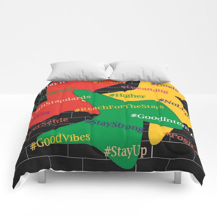 Hashtags Up Comforters