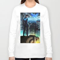 nightwing Long Sleeve T-shirts featuring Nightwing by Cielo+