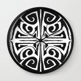 Tatouage rond, mandala, tatoo Wall Clock