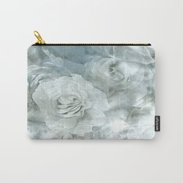 Silver Roses on Clouds Carry-All Pouch