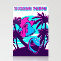 hotline miami Stationery Cards featuring Hotline Miami  by noxioussomnium