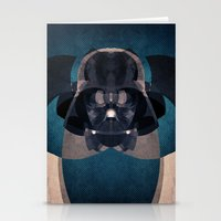 darth vader Stationery Cards featuring Darth Vader by lazylaves