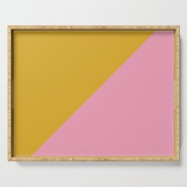 Ogre Yellow & Pink - oblique Serving Tray