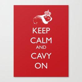 Keep Calm Cavy On Canvas Print