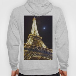 Effeil tower by night from human point of view Hoody