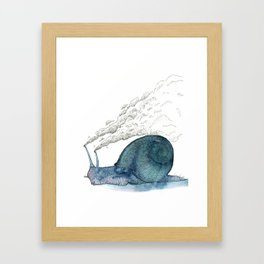 Escargot fumant Framed Art Print