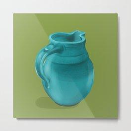 Teal Vase of Italy Metal Print