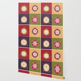 Christmas Retro Ornaments Wallpaper