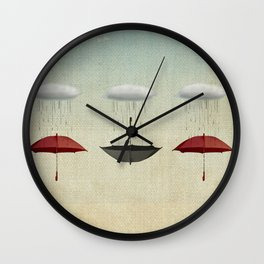 the umbrella filleth Wall Clock