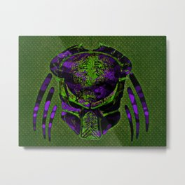 Soldier Predator Green Purple Metal Print