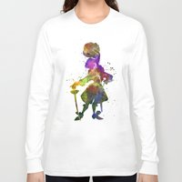 captain hook Long Sleeve T-shirts featuring Captain Hook in watercolor by Paulrommer