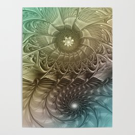 Togetherness, Fractal Art Abstract Poster