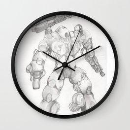 Mechanoid Drone Wall Clock