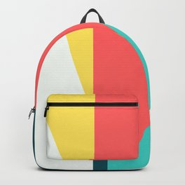 Geometric Abstract Colorful Art Retro Waves Pattern Backpack