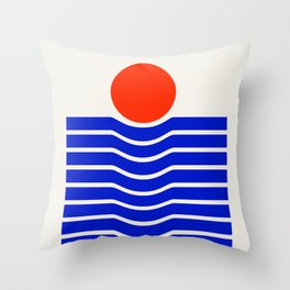 Going down-modern abstract Throw Pillow