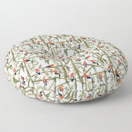 Gallitos de las rocas // Peruvian national bird gathering Floor Pillow