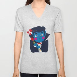 Vampi, the Sweetest Vampire Unisex V-Neck