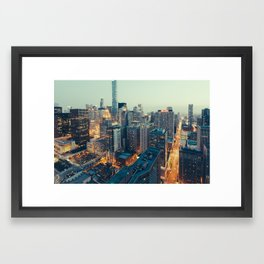 Downtown Chicago at Dusk Framed Art Print